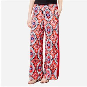 Anthropologie Lilka Printed Palazzo Wide Leg Pant